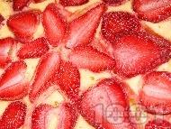 Вкусен ягодов чийзкейк с крема сирене Филаделфия, канела и ванилия (с желатин, без печене)